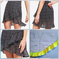 Diy Crafts - Sewing pattern for this wrap skirt pattern. The wrap skirt is great for the summer! You can find this pattern on my Etsy shop so you can Skirt Patterns Sewing, Clothing Patterns, Skirt Sewing, Fabric Sewing, Blouse Patterns, Fashion Sewing, Diy Fashion, Mens Fashion, Costura Fashion