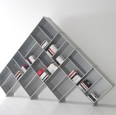 geometric bookcase: