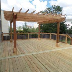 Decks.com. Cedar Deck & Pergola - Picture 3637