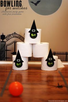 Halloween Game: Bowling for Witches with free printables | The Celebration Shoppe blog