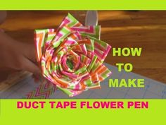 How to make a duct tape flower pen - DIY Easy tutorial