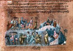 Vienna Genesis, inizio del VI secolo, Vienna, Biblioteca nazionale. Manoscritto realizzato probabilmente in Siria. Il più antico ben conservato codice biblico miniato.