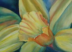 Dazzling Daffodil Painting by Ruth Kamenev - Dazzling Daffodil Fine Art Prints and Posters for Sale