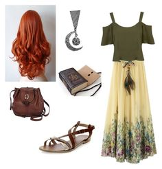 """""""Wicca/boho/gypsy"""" by lgbtkitten ❤ liked on Polyvore featuring Miss Selfridge and Brighton"""
