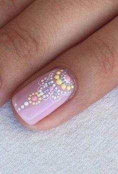 Pink Nails, Gel Nails, Dot Nail Designs, Romantic Nails, Mandala Nails, Dot Nail Art, Manicure E Pedicure, Pretty Nail Art, Creative Nails