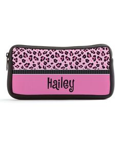 Personalized Planet Sassy Leopard Personalized Pencil Case   zulily