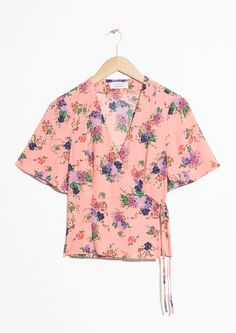 & Other Stories | #andotherstories #top #floral #wraptop