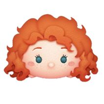 Merida is a Premium Box Tsum. She is a Limited Event Tsum and is not available from purchasing. Tsum Tsum Princess, Disney Tsum Tsum, Merida Disney, Emoji Characters, Disney Princess Art, Disney Princesses, Kawaii Disney, Disney Cookies, Princess Cupcakes
