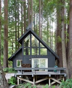 Tiny House Cabin, Tiny House Design, Cabin Homes, Small Cabin Designs, Tiny Houses, Wood Houses, Guest Houses, Cabins In The Woods, House In The Woods