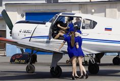 Russian Flight Attendants Testing Plane - Aviation Videos & Pictures