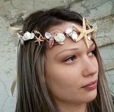 Starfish Hair Accessories Seashell hairpiece beach by seanatural