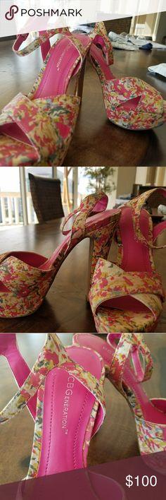 I just added this listing on Poshmark: BCBG Floral platform sandals. #shopmycloset #poshmark #fashion #shopping #style #forsale #BCBGeneration #Shoes