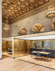 Henri Cleinge Adapts Grand Montreal Bank For Crew Offices And Cafe
