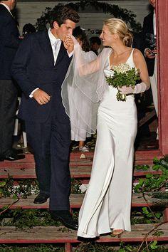Meghan Markle's Second Wedding Dress Was Definitely Inspired by Carolyn Bessette Kennedy- HarpersBAZAAR.com