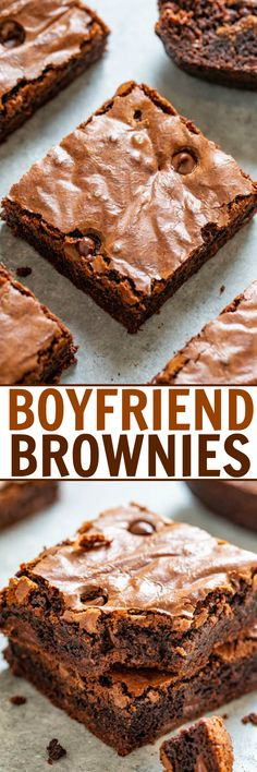 Boyfriend Brownies Boyfriend Brownies – Thick, rich, and a chocolate lovers dream! Fudgy in the center with chewy edges and studded with chocolate chips! If you're craving chocolate, this EASY homemade brownie recipe is just what you need! Chocolate Chip Brownies, Chocolate Chip Cookie Dough, Chocolate Desserts, Craving Chocolate, Chocolate Lovers, Chocolate Chips, Homemade Brownies, Best Brownies, Easy Desserts