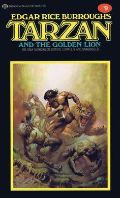 Boris Vallejo Tarzan and the Golden Lion