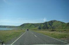 Eine lange Strasse in Neuseeland - keine seltenheit