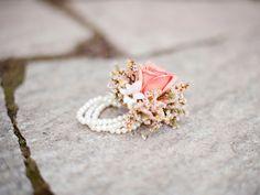 blush corsage pearl bracelet utah wedding flowers calie rose