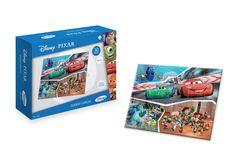 1840.9 - Quebra-Cabeça 30 Peças Disney Pixar | Quebra-cabeças em madeira reflorestada. | Faixa etária: + 4 anos | Medidas: 24 x 5 x 18 cm | Licenciados | Xalingo Brinquedos | Crianças