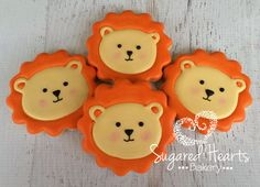 Darling lion cookies