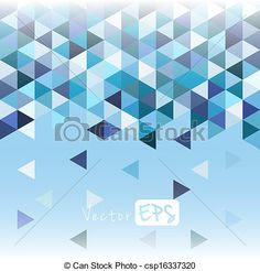 Vector - Geometric mosaic pattern from blue triangle - stock illustration, royalty free illustrations, stock clip art icon, stock clipart icons, logo, line art, EPS picture, pictures, graphic, graphics, drawing, drawings, vector image, artwork, EPS vector art