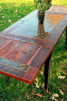 Dining Table Mosaic Tile Rustic by natureinspiredcrafts on Etsy, $1700.00