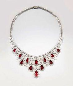 Burmese Ruby and Diamond Necklace, Harry Winston