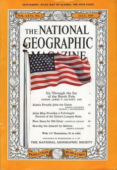 Photographic Print: Cover of the July, 1959 National Geographic Magazine by B. Photography Series, History Of Photography, National Geographic Cover, Magazine Front Cover, Magazine Covers, Lee And Me, Science Articles, Cool Magazine, Affordable Wall Art