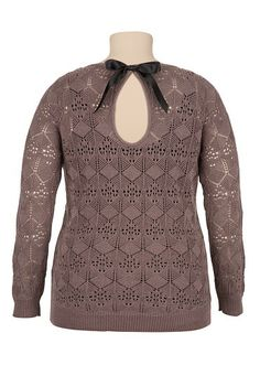 I wonder if I could add a bow to a sweater I have already, this is adorable