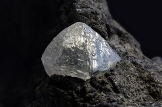 Diamond on Kimberlite - De Beers Mine, Kimberley, Francis Baard District, Northern Cape Province, South Africa Size: 6.51 mm