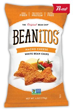 Beanitos - Best snack ever, to satisfy that salty, crunchy craving! All natural, non-GMO, no trans fats, no preservatives, gluten free, cholesterol free, vegan, corn  potato free, high fiber, low glycemic, complete protein. All that, and delicious to boot!