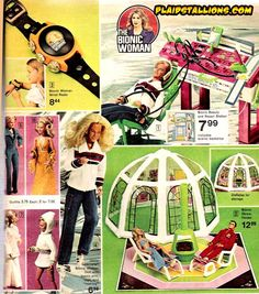 Who needs Barbie when you could have Jamie Sommers (aka The Bionic Woman) and her inflatable dome house
