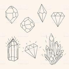 - Diamond - Hand drawn set sketch crystal,diamond and polygonal figure tattoo. Hand drawn set sketch crystal,d. Crystal Illustration, Diamond Illustration, Crystal Drawing, Crystal Tattoo, Handpoke Tattoo, Drawing Hands, Drawing Drawing, Drawing Tips, Diamond Drawing