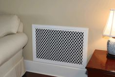 Decorative air return grille wall