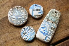 Blue Highways Polymer Clay Bead Collection 4 by SummerWindArt, $15.00