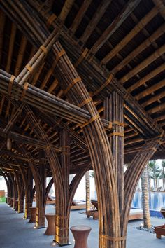 Vo Trong Nghia Architects has added three bamboo buildings with thatched roofs to the Naman Retreat in Vietnam