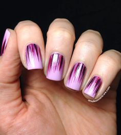 Hey there lovers of nail art! In this post we are going to share with you some Magnificent Nail Art Designs that are going to catch your eye and that you will want to copy for sure. Nail art is gaining more… Read more › Crazy Nails, Love Nails, Fun Nails, Purple Nail Polish, Purple Nails, Purple Ombre, Orchid Nails, Nagellack Design, Nail Art Blog