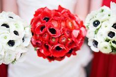 bright bouquets: awesome red & white bouquets