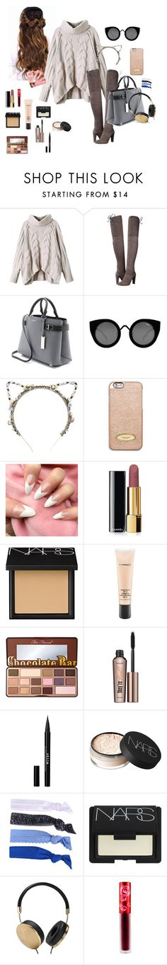 """Shh dont tell your mother..."" by whatevernicole31 ❤ liked on Polyvore featuring Stuart Weitzman, Michael Kors, Quay, Eugenia Kim, MICHAEL Michael Kors, Chanel, NARS Cosmetics, MAC Cosmetics, Too Faced Cosmetics and Benefit"