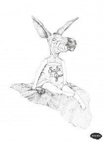 Sale gosse Aster, Illustrations, Graphic Design, Characters, Animaux, Drawing Drawing, Illustration, Illustrators