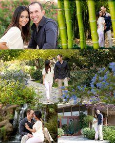 Los Angeles, Arboretum, Engagement Photo, Engagement Photography, Gilmore Studios, Kiss, Love, Engagement, Couple, Flowers, Path