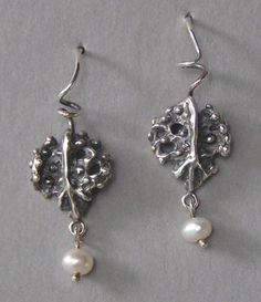 jewelry image of Sterling silver with freshwater pearls on ear wires