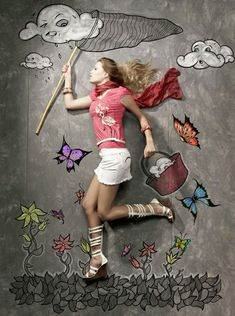 Chalk drawing photography