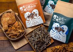 Pet Snacks on Packaging of the World by Lu Zong Yan,Taipei, Taiwan. Looks like fish to me. What do U think? PD