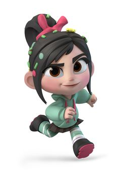 """Vanellope was the second main character in the movie """"Wreck-It Ralph"""". Vanellope, short for Vanellope Von Schweetz, is a female Disney character who made her first appearance in Wreck-it Ralph. Disney Art, Disney Pixar, Walt Disney, Disney Style, Game Character, Character Concept, Character Design, Concept Art, Disney Infinity Characters"""