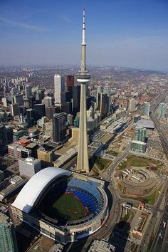Rogers Centre (retractable roof), Toronto, Ontario, Canada - Home of the Toronto Blue Jays Quebec, Toronto Canada, Toronto City, Downtown Toronto, Vancouver City, Toronto Skyline, Banff, Ottawa, Niagara Falls