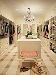 Pink and Plaid closet