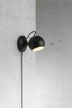 Markslöjd Ball seinävalaisin | Wall spotlights, Wall lights