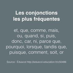 La conjonction est un mot invariable qui sert à relier deux mots, deux groupes de mots ou deux phrases. On distingue deux types de conjonctions : la conjonction de coordination et la conjonction de...