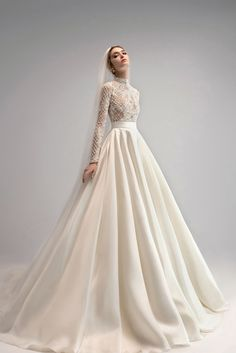 Muslimah Wedding Dress, Muslim Wedding Dresses, Bridal Outfits, Bridal Dresses, Dress Outfits, Marie, Ball Gowns, Ersa Atelier, Bridal Collection